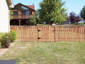 Western Red Cedar Picket Fence Materials