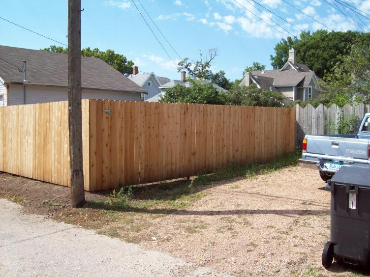Western Red Cedar Privacy Fence Materials